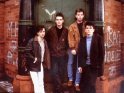 The Smiths, zleva Johnny Marr, Morrissey, Andy Rourke, Mike Joyce, cca 1985