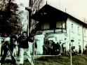 Sázení stromků před domečkem JS v Krči, 1985