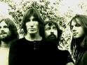 Pink Floyd, jedni z dinosaurů, zleva Rick Wright, Roger Waters, Nick Mason a David Gilmour, cca 1.pol.70.let