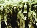 Black Sabbath, zleva Bill Ward, Geezer Butler, Ozzy Osbourne a Tony Iommi, cca 1970-71