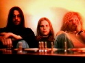 Tangerine Dream, zleva Christopher Franke, Hans-Peter Baumann a Edgar Froese, 1974