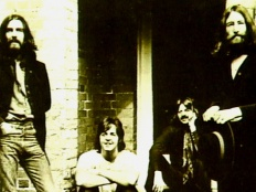 The Beatles, zleva George Harrison, Paul McCartney, Ringo Starr,John Lennon, 1969