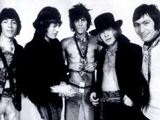 Rolling Stones, zleva Bill Wyman, Mick Jagger, Keith Richard, Brian Jones, Charlie Watts, 1969