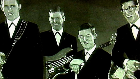 The Shadows, zleva Bruce Welch, Brian Locking, Brian Bennett, Hank Marvin, cca_1962-63