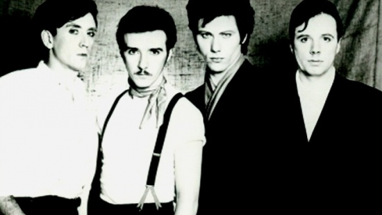 Ultravox, zleva Chris Cross, Midge Ure, Warren Cann, Billy Currie, cca 1980