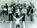Pražský Big Band na ranveji (vpředu vedoucí Milan-Svoboda, cca 1975-76)