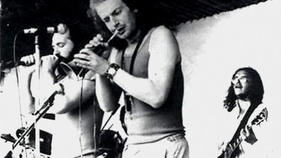MCH Band v době Krokodlaka (live Žabčice 19.6.82, zleva Luboš Fidler,  Mikoláš Chadima a Pavel Richter, 1982)