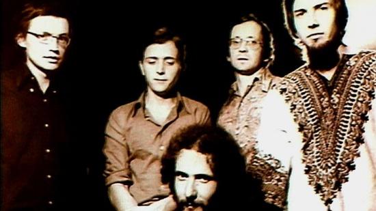 Energit (zleva nahoře Emil Viklický, Jan Vytrhlík, Rudolf Ticháček, Luboš Andršt, dole Karel Jenčík, 1974)