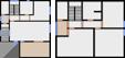 Půdorys prvního a druhého patra
