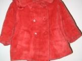 Dětský plyšový kabátek