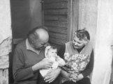 Tři generace, já s dědečkem a prababičkou