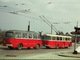 Trolejbus Škoda 9tr s polským přívěsem Jelcz