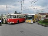 Setkání generací trolejbusů - Škody 9tr a 25tr