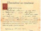 Výuční list Tatry v Kopřivnici