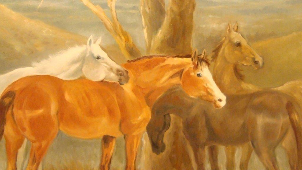Velký kořist péro na koni
